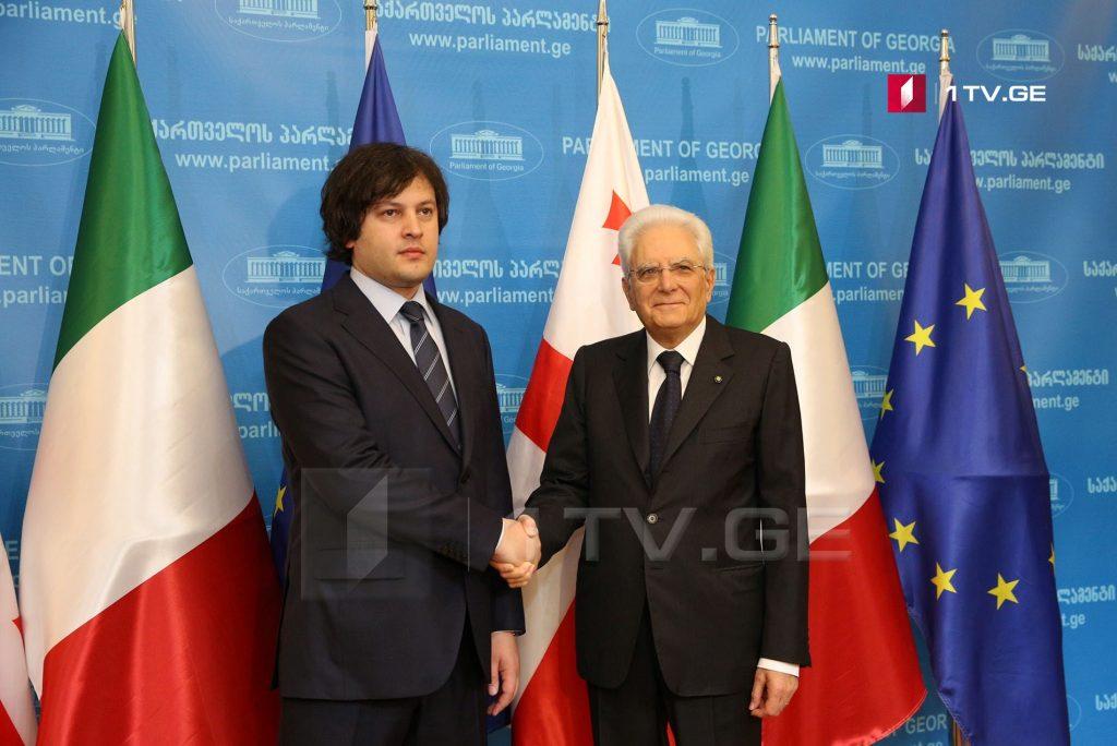 ირაკლი კობახიძე იტალიის პრეზიდენტს შეხვდა