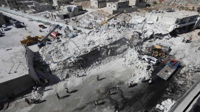 სირიის იდლიბის პროვინციაში საბრძოლო მასალების საწყობის აფეთქებას 39 ადამიანი ემსხვერპლა