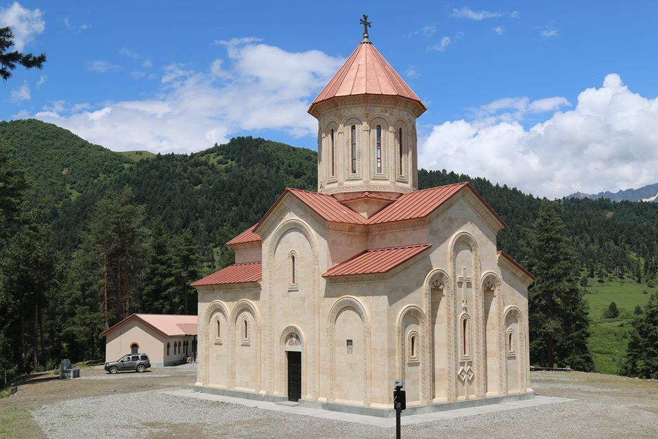 Temple of Iveria Virgin Mary was blessed in Mestia