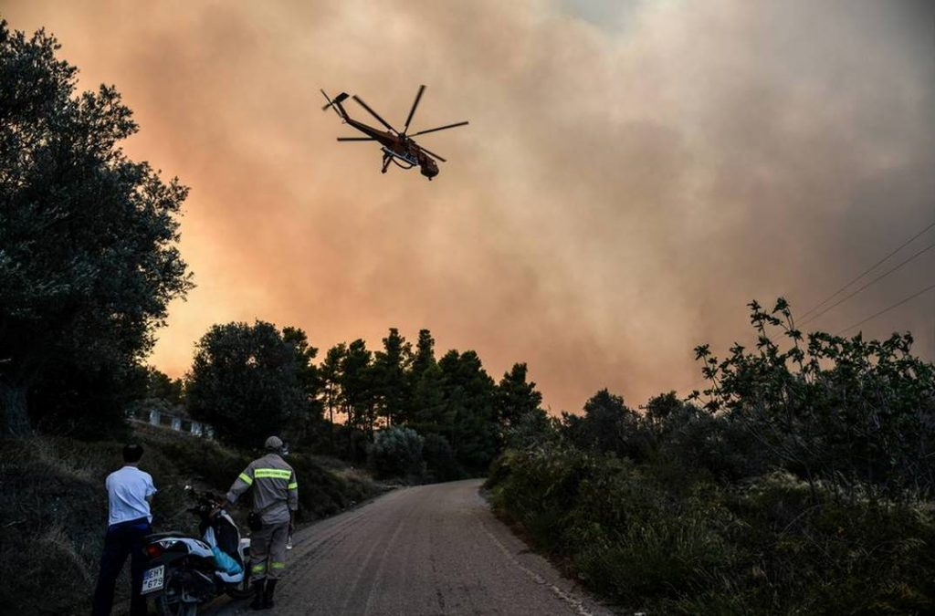 საბერძნეთში, კუნძულ ევიაზე ტყის ხანძრის გამო, კრიზისულ სიტუაციებთან ბრძოლის საბჭო საგანგებო შეხვედრას მართავს