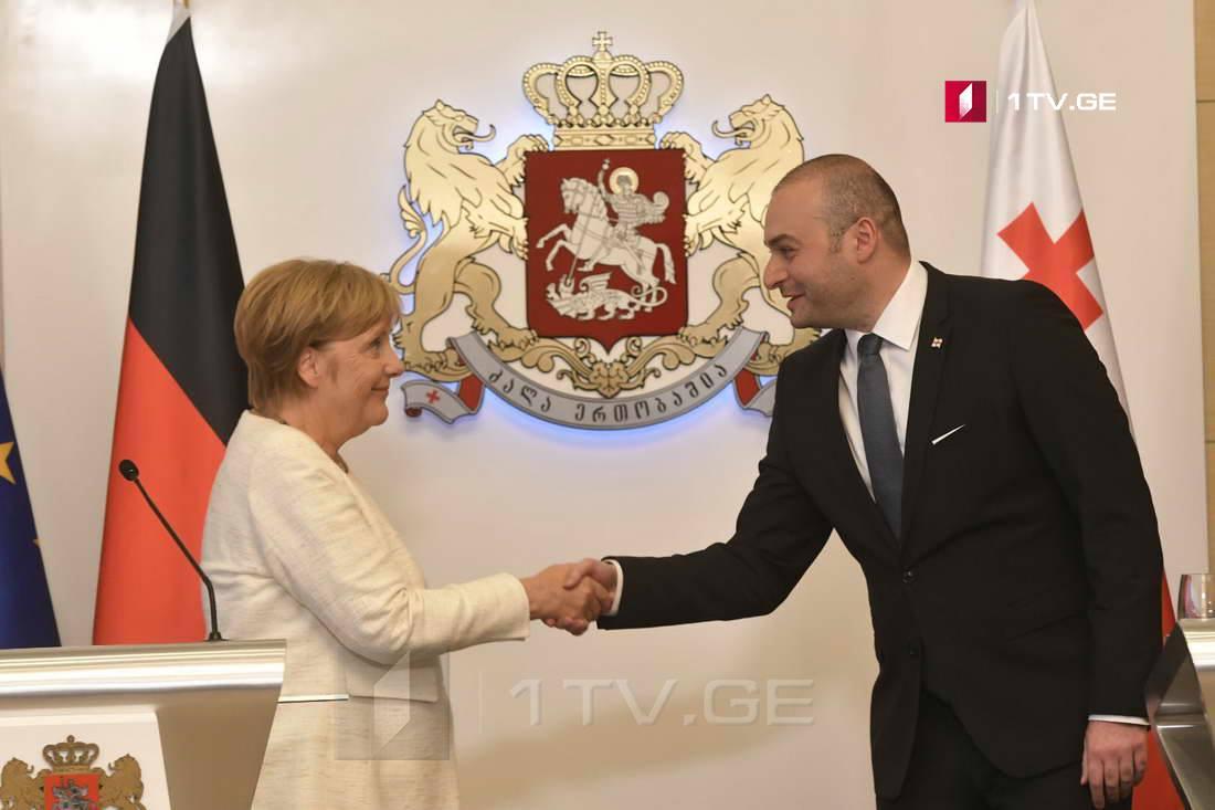 ანგელა მერკელი - გერმანია მხარს გიჭერთ და მხარს დაგიჭერთ, სწორედ ამიტომ ვარ აქ