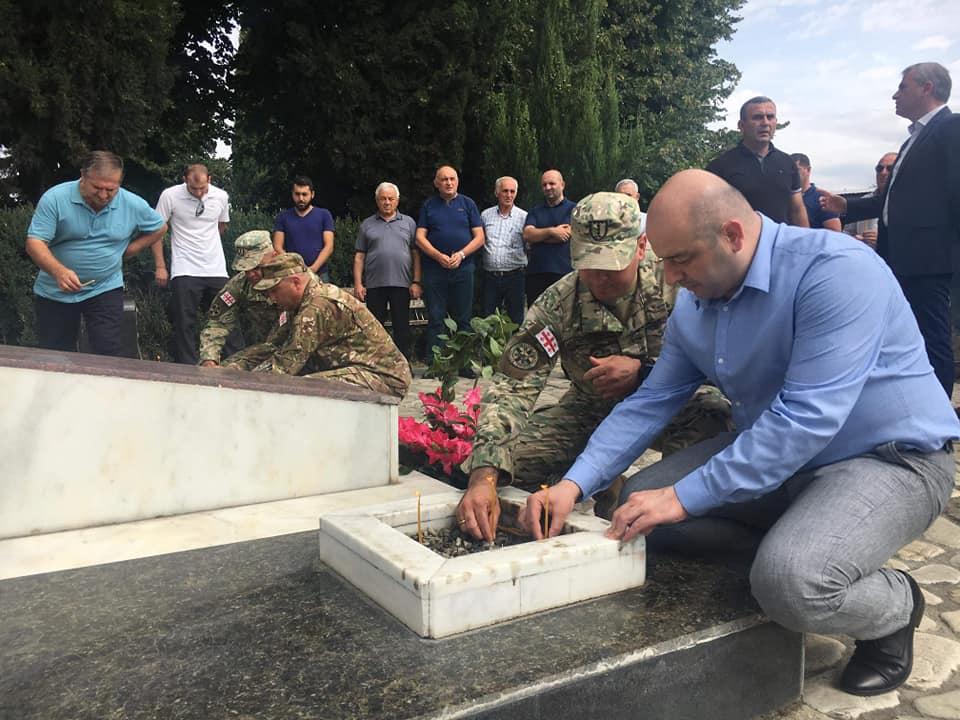 სოფელ ქვემო ალვანში ეროვნული გმირის, გიორგი ანწუხელიძის ხსოვნას პატივი მიაგეს