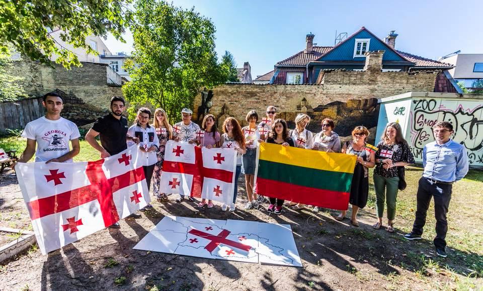 Litva paytaxtında Gürcüstana həmrəylik aksiyası keçirildi