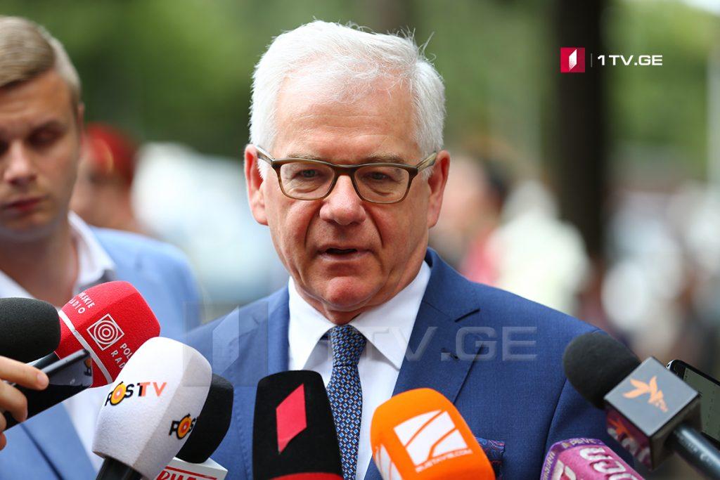 Министр иностранных дел Польши – Несмотря на то, что Женевские международные дискуссии продолжаются столько лет, успех не достигнут