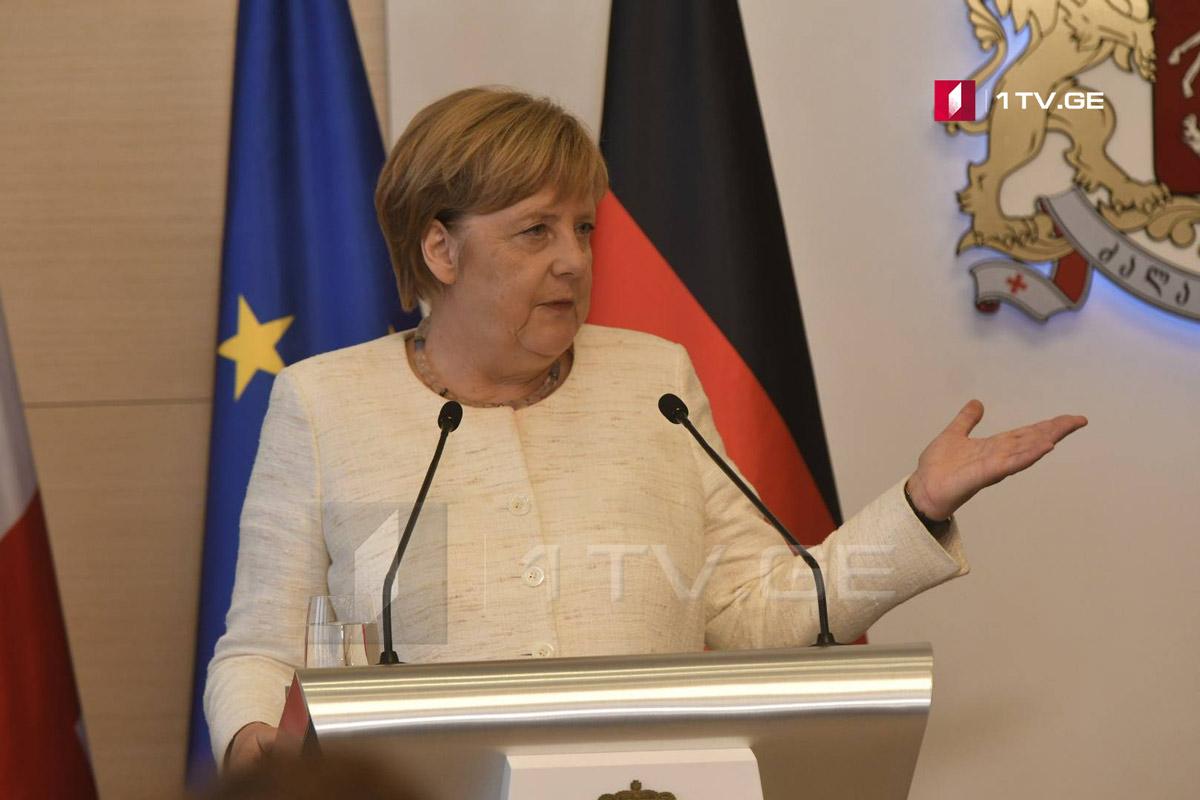 ანგელა მერკელი - საქართველოსა და გერმანიას ორგანიზებული დანაშაულის წინააღმდეგ ბრძოლის კუთხით ძალიან კარგი თანამშრომლობა აქვთ