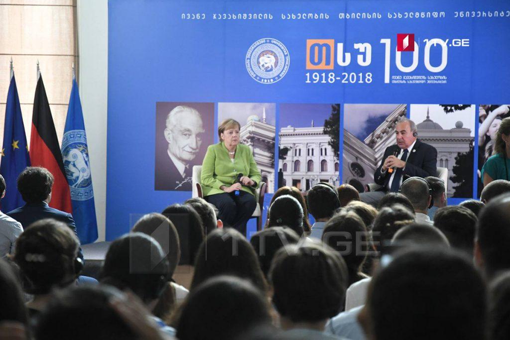 Angela Merkel - Gürcüstan həqiqətən ən çox Avropa perspektivi olan bir ölkədir