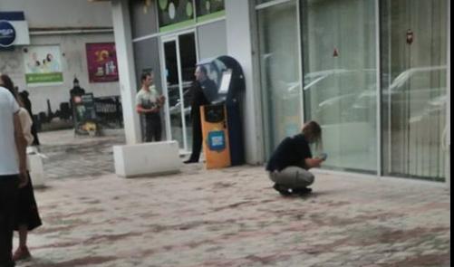 თბილისში, შარტავას ქუჩაზე სწრაფი ჩარიცხვის აპარატი გაქურდეს