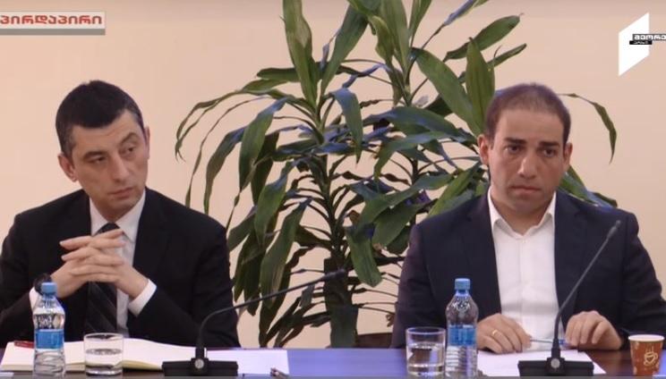 На заседании временной следственной комиссии слушают Георгия Гахария и Ираклия Шотадзе