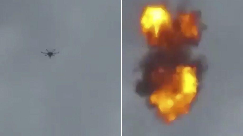 ვენესუელაში მომხდარი ინციდენტისას დრონის აფეთქების ვიდეო გავრცელდა