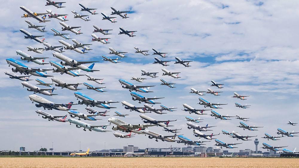 Загруженность воздушного пространства Грузии увеличилась на 10,1 процента