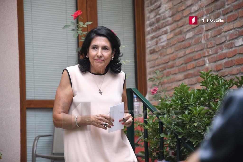 Саломе Зурабишвили - В связи со своим решением я консультировалась только с собой