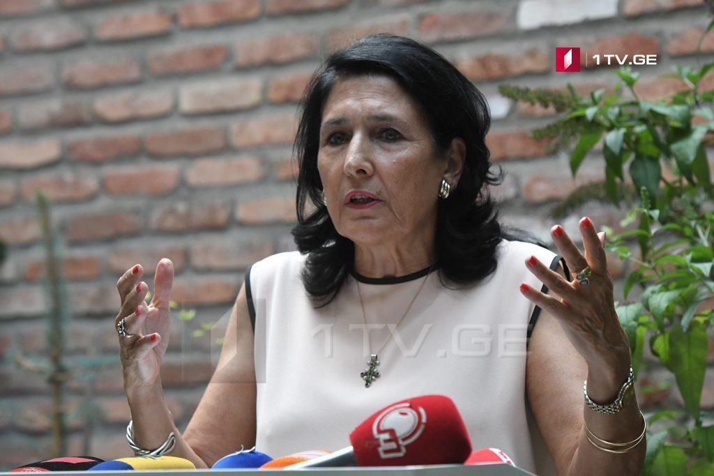Salome Zurabişvili prezident seçkilərində müstəqil namizəd kimi iştirak edəcək