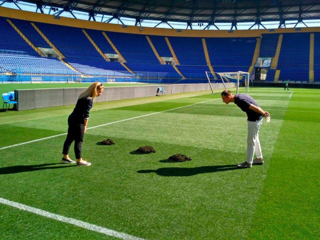 Չեմպիոնների լիգայի խաղից առաջ, Խարկովի մարզադաշտը փչացրել են խլուրդները