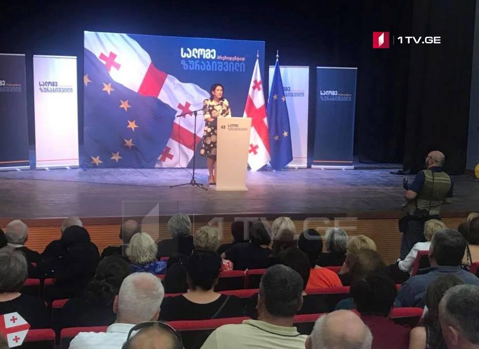 Саломе Зурабишвили – Меня убивает безнадежность, которая чувствуется в стране, мы ежедневно должны думать, как спастись