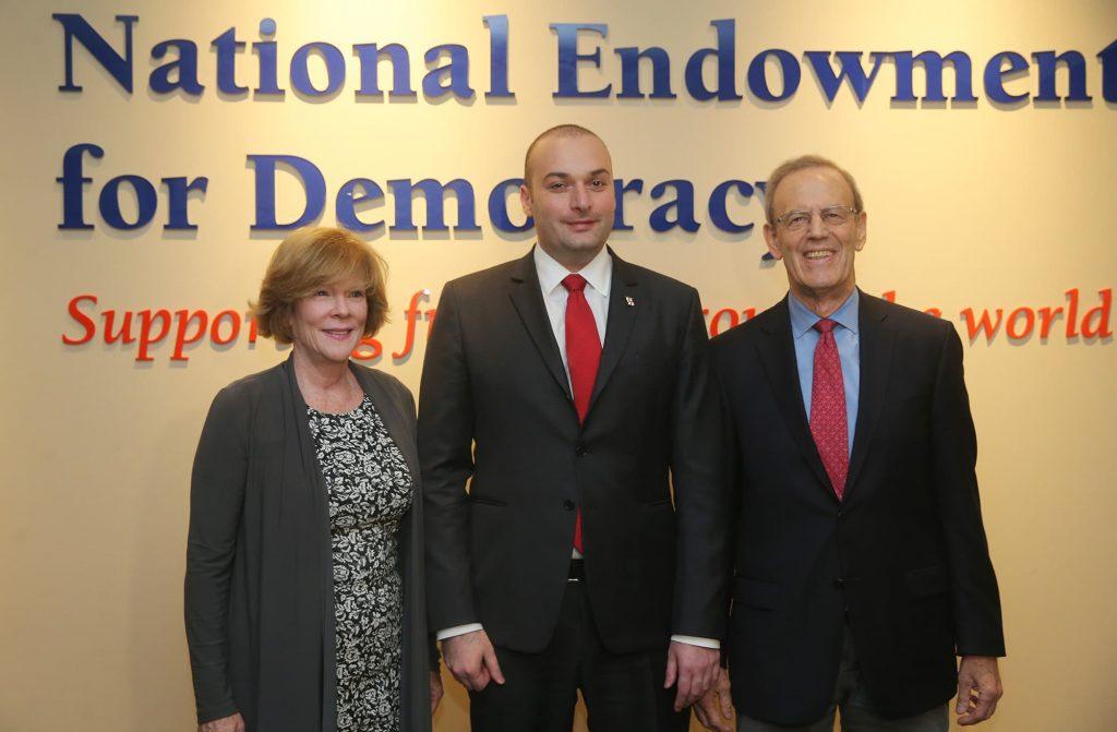 საქართველოს პრემიერ-მინისტრმა და NED-ის პრეზიდენტმა საქართველოს დემოკრატიული განვითარების მნიშვნელობაზე ისაუბრეს