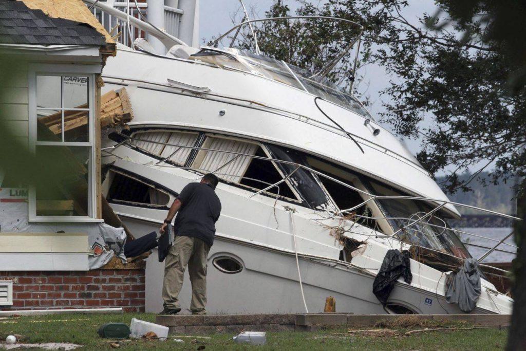 """აშშ-ში ქარიშხალ """"ფლორენსის"""" შედეგად მიყენებული ეკონომიკური ზიანი 50-მდე მილიარდ დოლარს შეადგენს"""