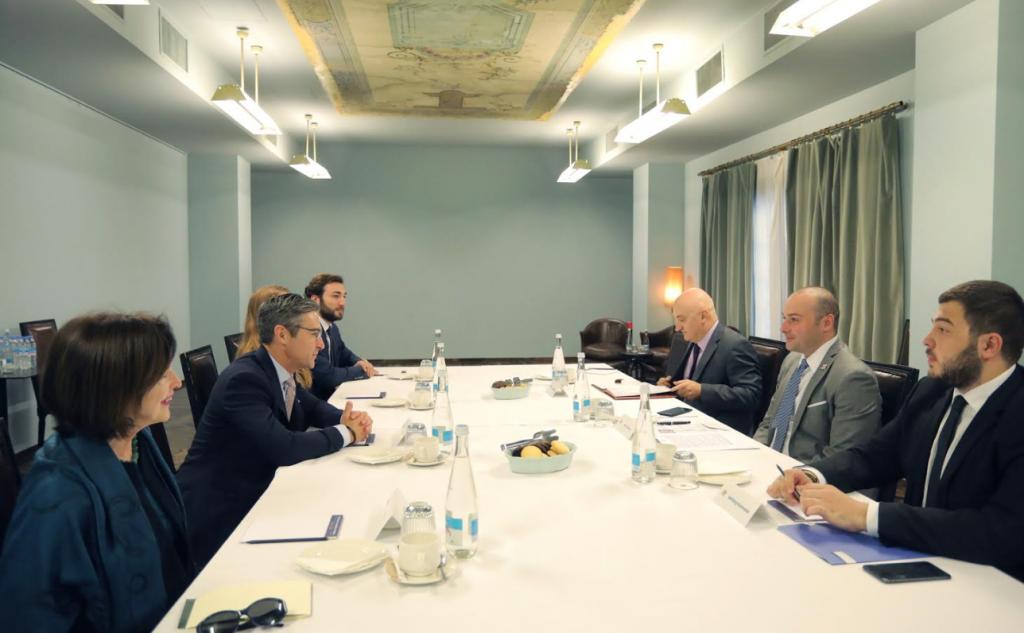 Мамука Бахтадзе встретился с исполнительным вице-президентом Атлантического совета
