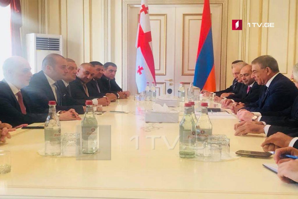 Մամուկա Բախտաձեն հանդիպել է Հայաստանի հանրապետության ազգային ժողովի նախագահի հետ
