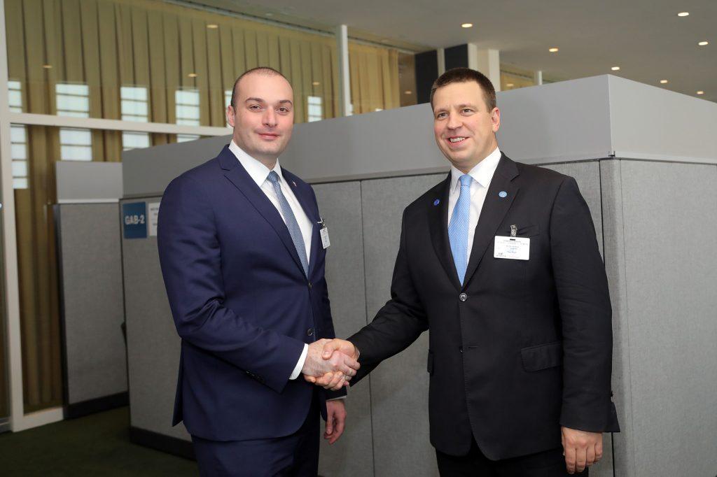 საქართველოსა და ესტონეთის პრემიერ-მინისტრებმა წარმატებული რეფორმების გამოცდილების გაზიარების მნიშვნელობაზე ისაუბრეს