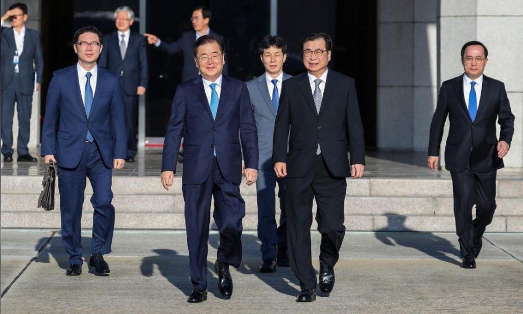 სამხრეთ კორეელი დიპლომატები კორეის ნახევარკუნძულის ბირთვულ განიარაღებასთან დაკავშირებით დაგეგმილ მოლაპარაკებებზე ფხენიანში იმსჯელებენ