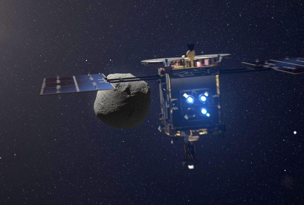 იაპონური ხომალდი ასტეროიდ რიუგუსთან მივიდა და ორი რობოტის გადასმისთვის ემზადება