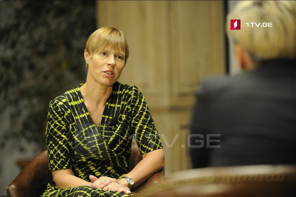 Kersti Kaljulaid on Georgia's NATO membership - the time will come when all the stars will be placed as it should