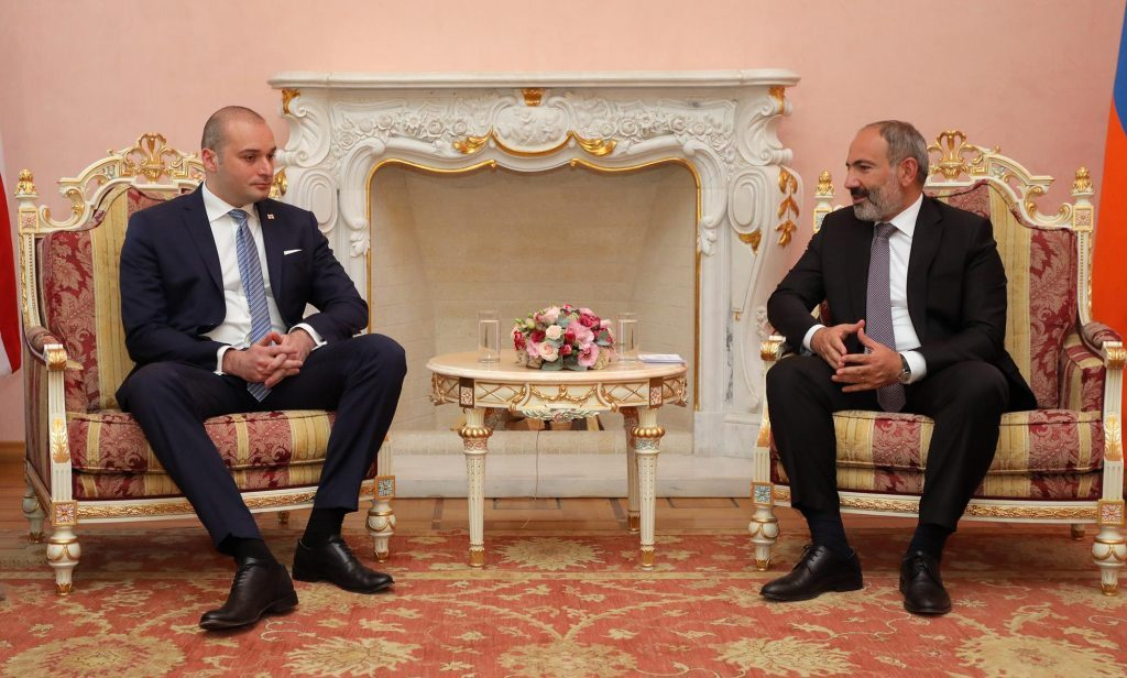 Mamuka Bakhtadze and Nikol Pashinyan agreed to increase Georgia-Armenia cargo turnover to USD 1 billion