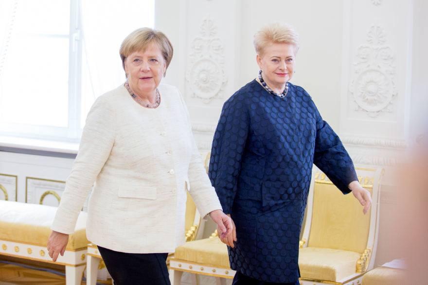 Ангела Меркель и Даля Грибаускайте обсудили актуальные вопросы повестки дня НАТО и Евросоюза