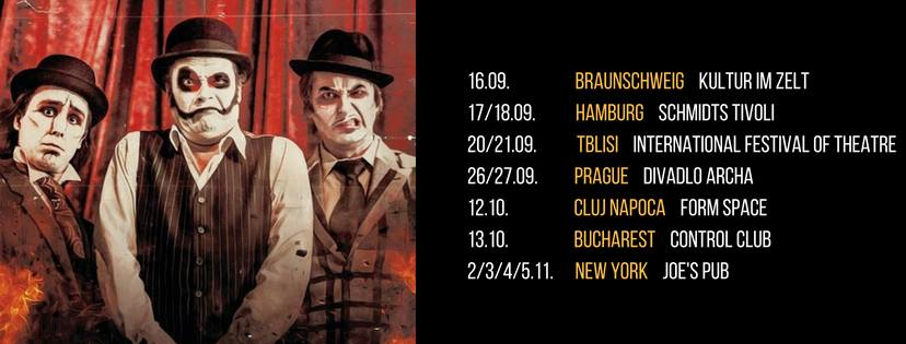 The Tiger Lillies to hold a concert in Tbilisi on September 21