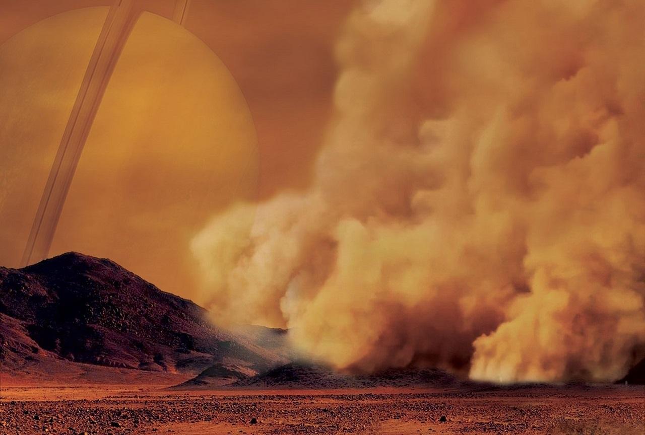 სატურნის მთვარე ტიტანზე მძვინვარე ქვიშის შტორმი დააფიქსირეს