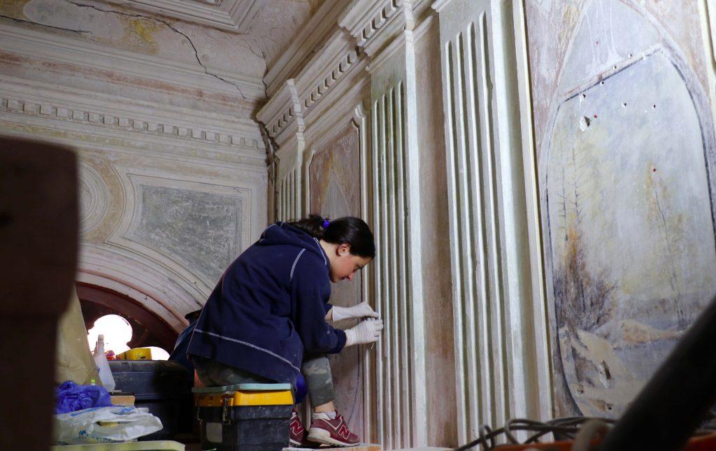 თბილისში, თაბუკაშვილის N42-ში სადარბაზოს რეაბილიტაციისას ადრეული მხატვრობის ნიმუში გამოვლინდა