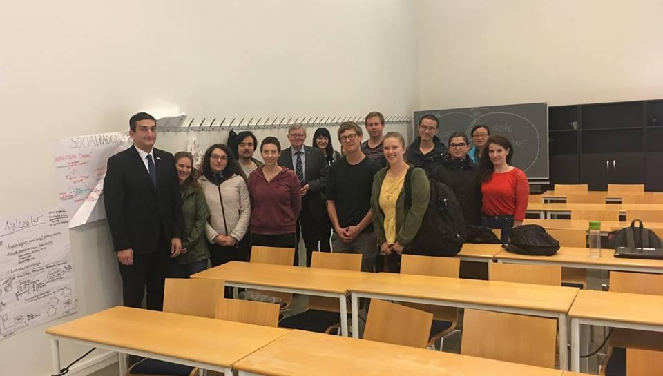 დანიაში საქართველოს ელჩმა ოლბორგის უნივერსიტეტში ლექციაწაიკითხა