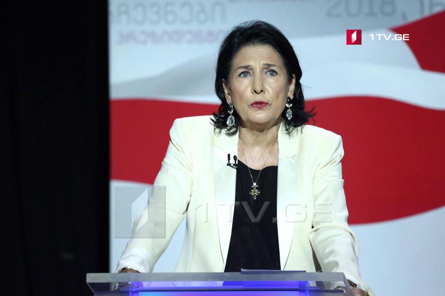 სალომე ზურაბიშვილი - იმედი მაქვს, ინაუგურაციას ქალი პრეზიდენტები დაესწრებიან