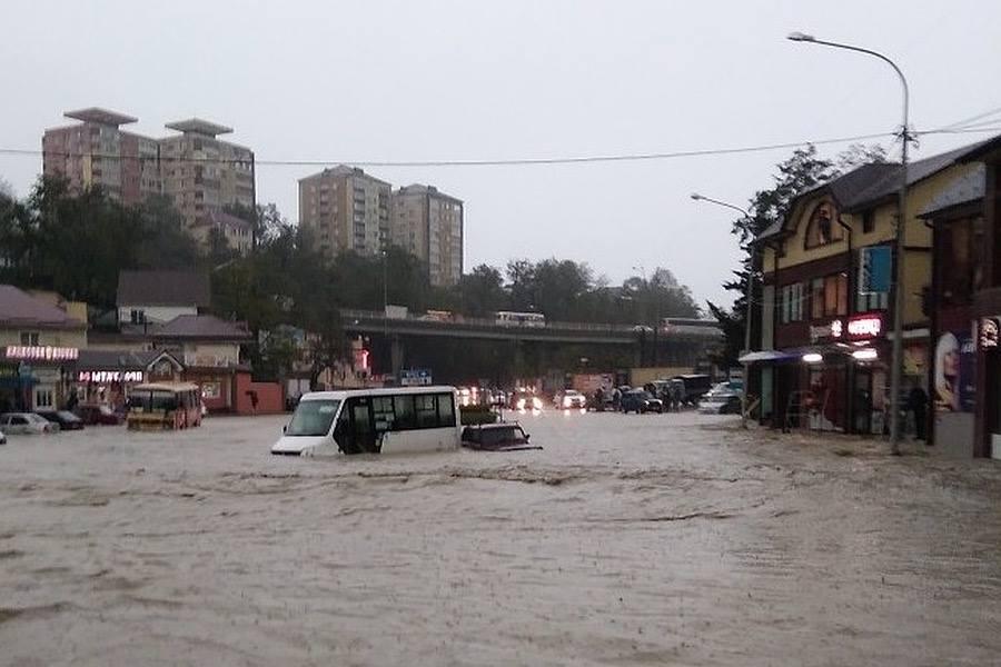 კრასნოდარის მხარეში ძლიერი წვიმის გამო, საგანგებო მდგომარეობა გამოცხადდა