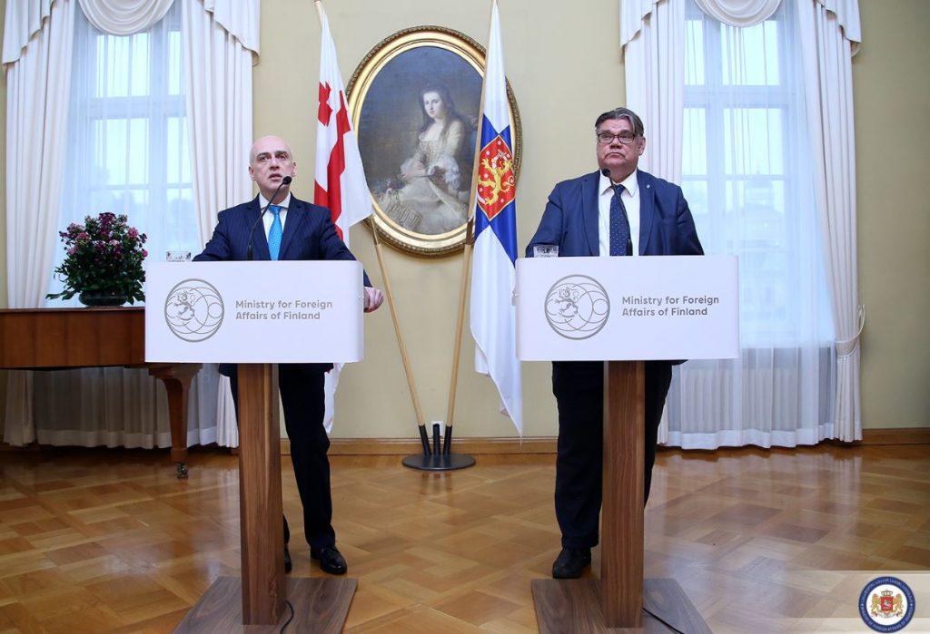 ფინეთის საგარეო საქმეთა მინისტრი - ფინეთი გმობს სოფელ ატოცში ხელოვნური ბარიერების აღმართვას
