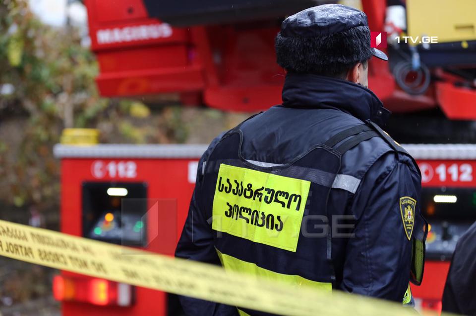 Passenger bus set ablaze at Tbilisi-Senaki-Leselidze highway