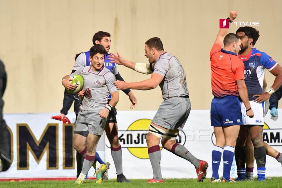 Georgian Rugby team defeated Samoa with score 27-19