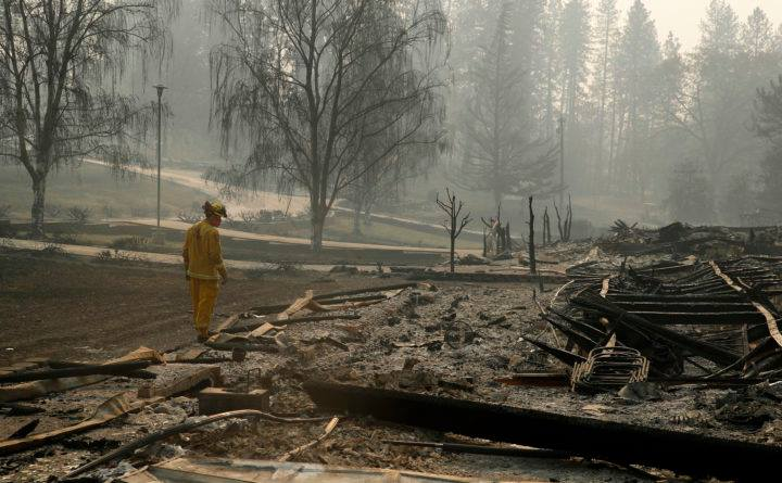 კალიფორნიაში ხანძრის შედეგად დაღუპულთა რიცხვი 80-მდე გაიზარდა