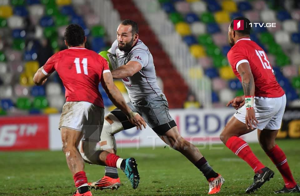 Georgian rugby team defeats Tonga