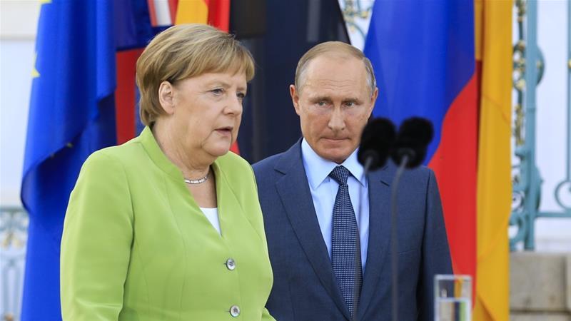 რუსეთის პრეზიდენტსა და გერმანიის კანცლერს შორის ქერჩის სრუტეში შექმნილ მდგომარეობაზე სატელეფონო საუბარი შედგა