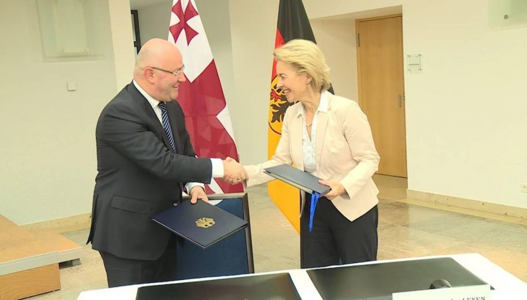 საქართველოსა და გერმანიას შორის სამხედრო სფეროში თანამშრომლობის შესახებ შეთანხმება გაფორმდა