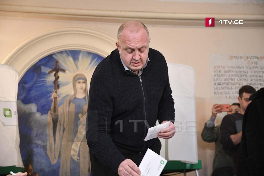 Георгий Маргвелашвили - Я горд, что грузинский избиратель так активно выражает свою позицию