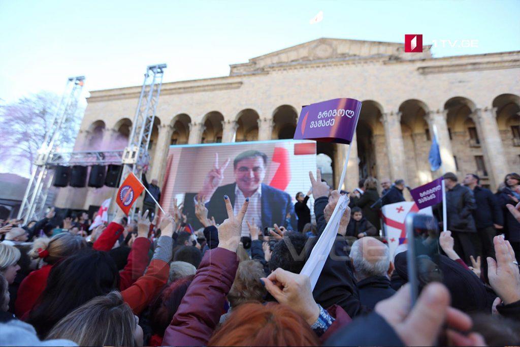 Ցանկանում եմ ողջունել ժողովրդի կողմից ընտրված նախագահին, Գրիգոլ Վաշաձեին, Վրաստանում ծնվել է մեծ քաղաքական աստղ. Միխեիլ Սաակաշվիլի