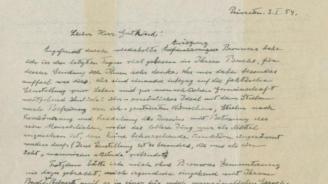 """ალბერტ აინშტაინის ხელნაწერი - """"წერილი ღმერთზე"""" კრისტის აუქციონზე 2,9 მილიონ დოლარად გაიყიდა"""