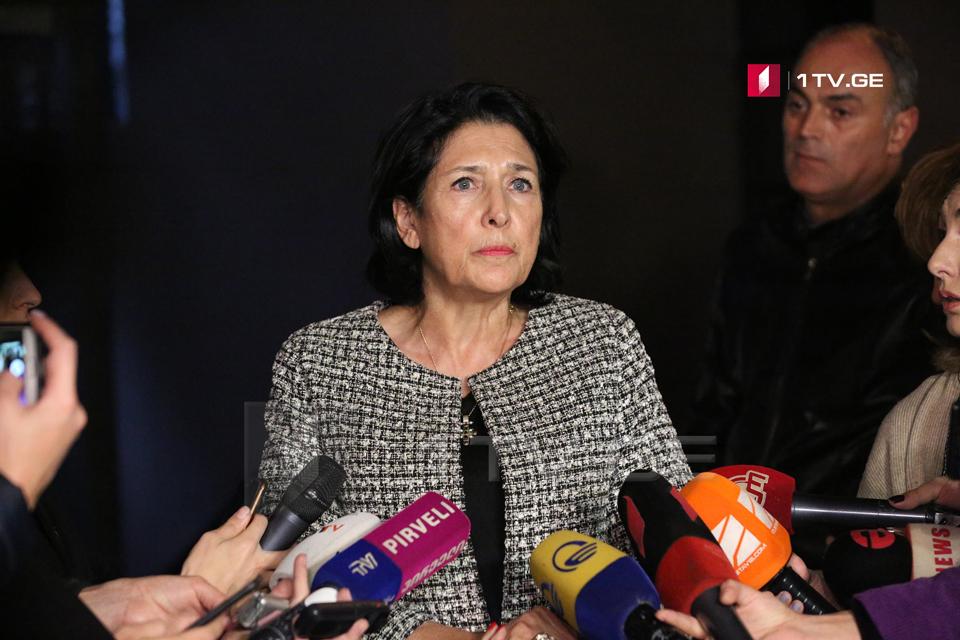 Саломе Зурабишвили заявляет, что укомплектует команду с будущей недели