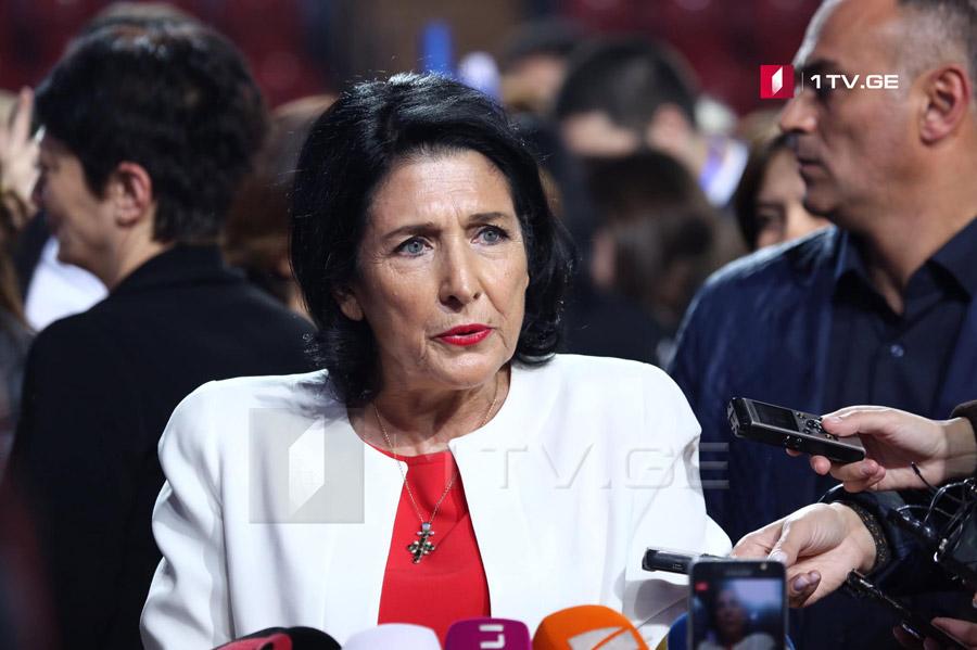 Salome Zurabişvili - əgər andiçmə mərasiminə qədər prezident kimi etiraf olunsam, Qriqol Vaşadze dəvət olunacaq