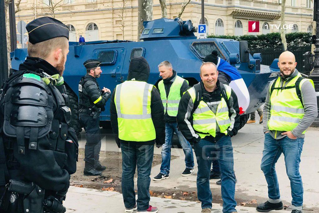 """საფრანგეთის მთავრობა მოძრაობა """"ყვითელი ჟილეტების"""" წევრებს მოუწოდებს, საპროტესტო აქცია შაბათს არ გამართონ"""