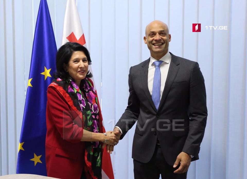 Джеймс Аппатурай проводит встречу с Саломе Зурабишвили (фото)