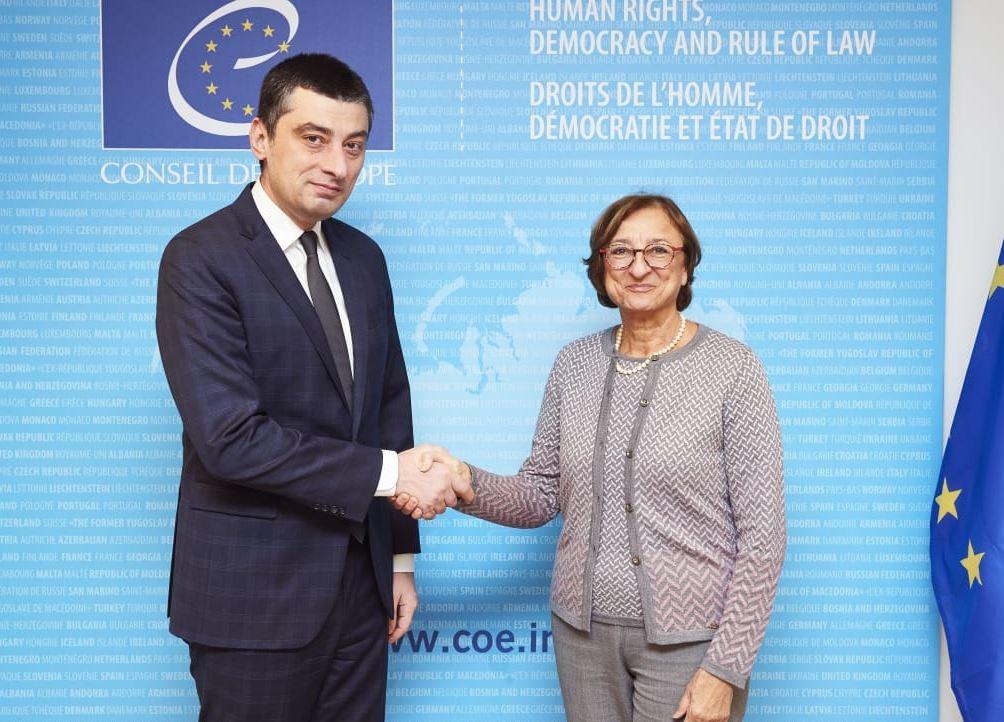 Giorgi Gakharia paid a working visit to Strasbourg