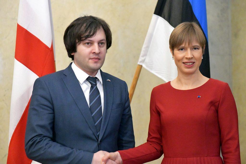 ირაკლი კობახიძე ესტონეთის პრეზიდენტს შეხვდა